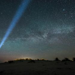 Schiermonnikoog, melkweg plus een vleug noorderlicht (1)