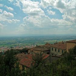 Uitzicht op Assisi
