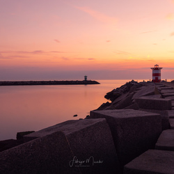sunset at the light house