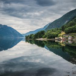Weerspiegeling Noorwegen