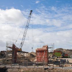 Werkzaamheden nieuwbouw gemaal de Schans