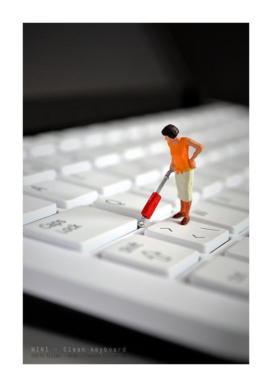 MINI - Clean keyboard... - Zo hou ik mijn toetsenbord netjes....