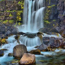 HDR foto Waterval IJsland