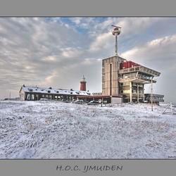 Semafoor IJmuiden.Achterzijde