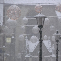 Sneeuw in de stad