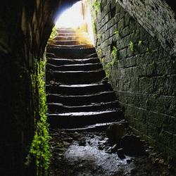 Trap in fort nabij Verdun
