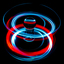light painting met een lensball
