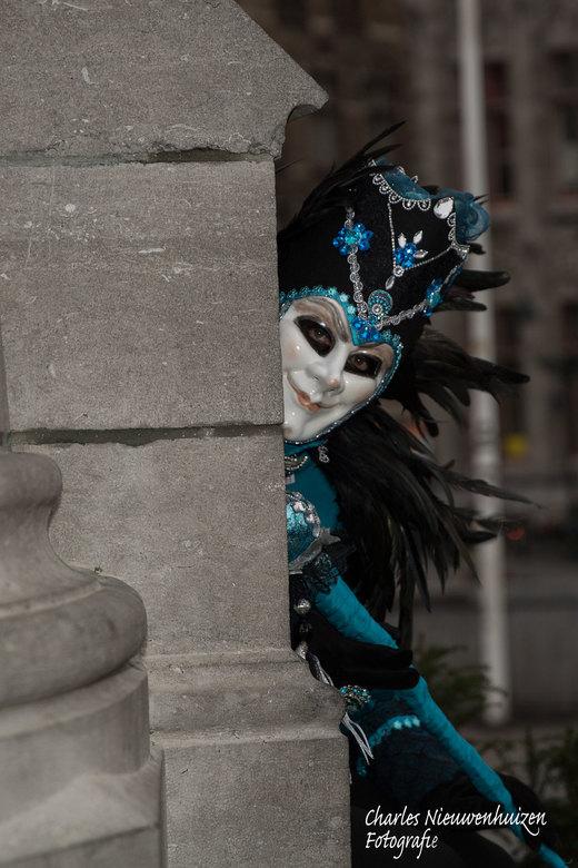 venetiaans carnaval in Brugge - Venetiaans carnaval in Brugge op 12 januari.