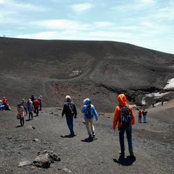 Stevige wind op de Etna