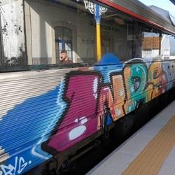 Grafiet trein in de Algarve - Portugal