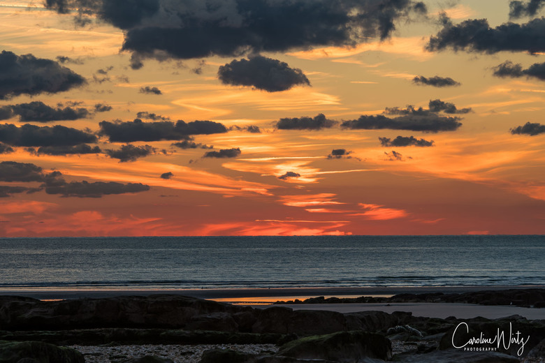 Sunset Ambleteuse - Zonsondergang op het strand van Ambleteuse, Opaalkust Frankrijk