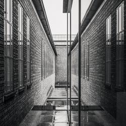 brick and mirror