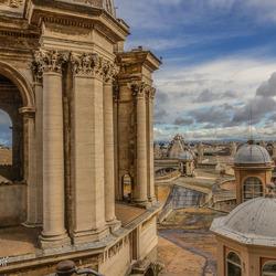 Boven het Vaticaan
