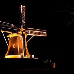 Windmill by night
