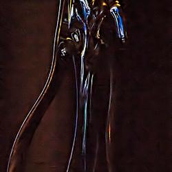 Glaskunst bij lamplicht