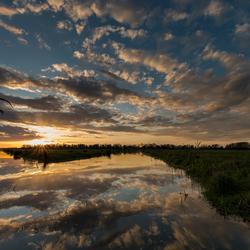 Biesbosch...wat was zonsondergang toch weer prachtig!
