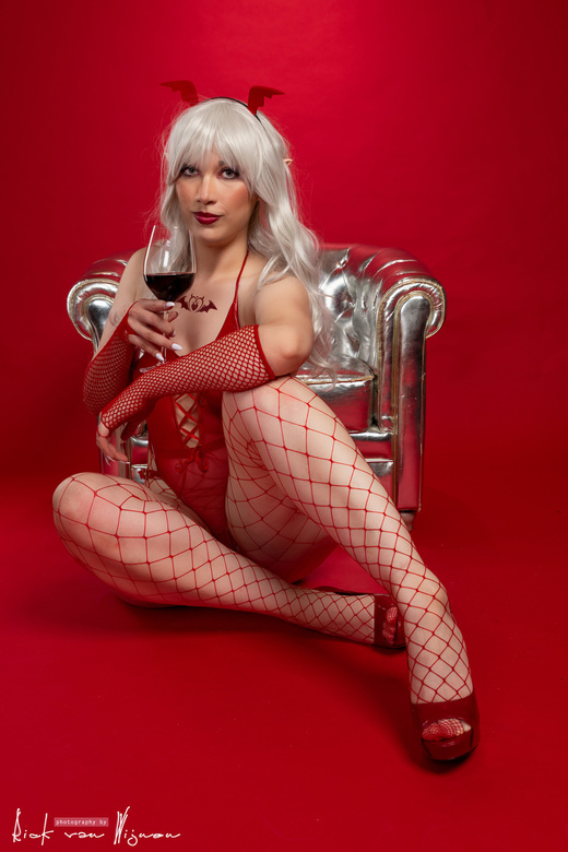 Succubus Silver &amp; Red - Cosplay Shoot Succubus zilver en rood.<br /> Model: Angielu.Cosplay