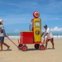 Verkoop op het strand