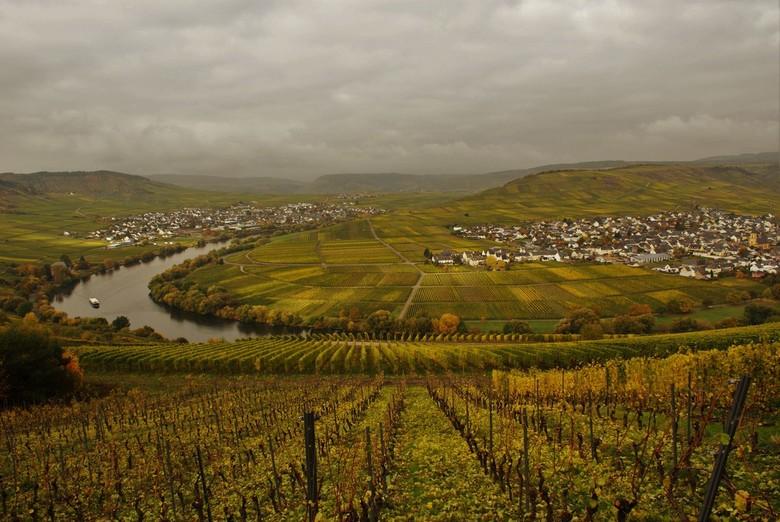 in berg en dal.... - een prachtig gebied in Duitsland, de natuur rond de Moezel. prachtig uitzicht tussen de druiventrossen.