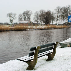 sneeuw, geen toeristen geen pontje