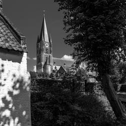 Thorn, het witte stadje in zwart wit