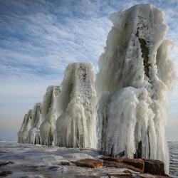 Afsluitdijk in winterse sferen 2