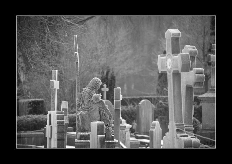 Maria Beeld - Deze opname heb ik op een sneeuwachtige dag gemaakt op begraafplaats moskowa in arnhem