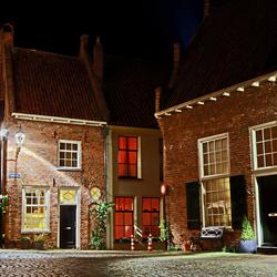 Een gezellig pleintje in Deventer in HDR