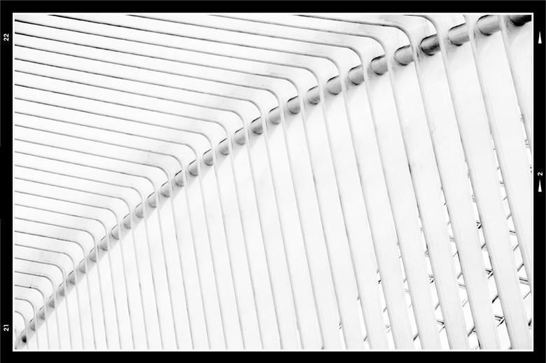 Fast lines 10 - Soms gaat mijn fantasie nog wel eens met mij aan de haal en zo ook tijdens mijn visuele jacht tpv het station in Luik. De fraaie dakco