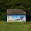 Kleurrijk huisje in het waterwingebied