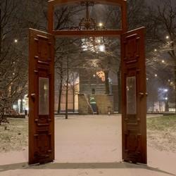 De eeste sneeuw in Emmen 2021