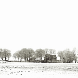 Winter in zwart/wit