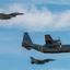 2 x F-16 en Hercules 130 met Invasion Stripes