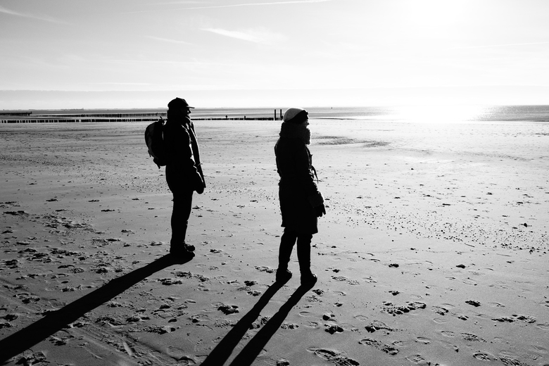 Zoutelande - Strandwandeling - Zondag, strandwandeling-dag.