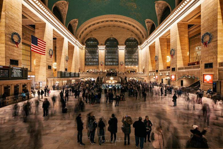 Grand Central Terminal - Foto werd genomen op een drukke vrijdagavond in december 2018.