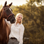 Prachtig licht met Paard & Mens