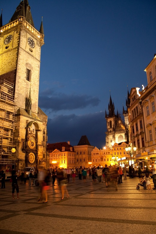 Praag bij nacht - 's avonds laat in Praag gemaakt.