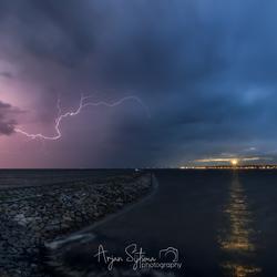 Onweer boven Terschelling