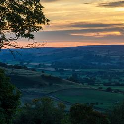 Zonsondergang North York Moors