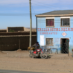 Moment langs de weg in Peru