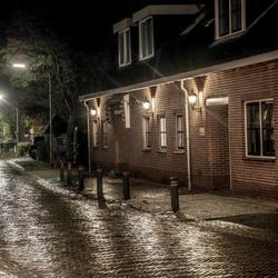 Regen in de nacht./reflecties