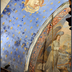 detail beschilderde apsis