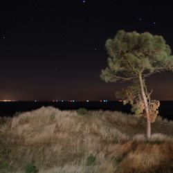 Terschelling, bij nacht in de duinen