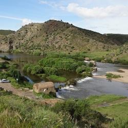 Oude watermolens in de Guadianarivier bij Mértola