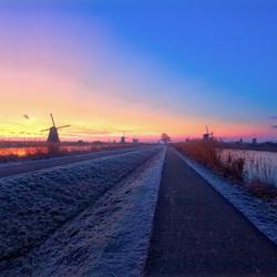 Bevroren Kinderdijk