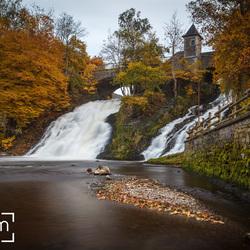 De watervallen van Coo.
