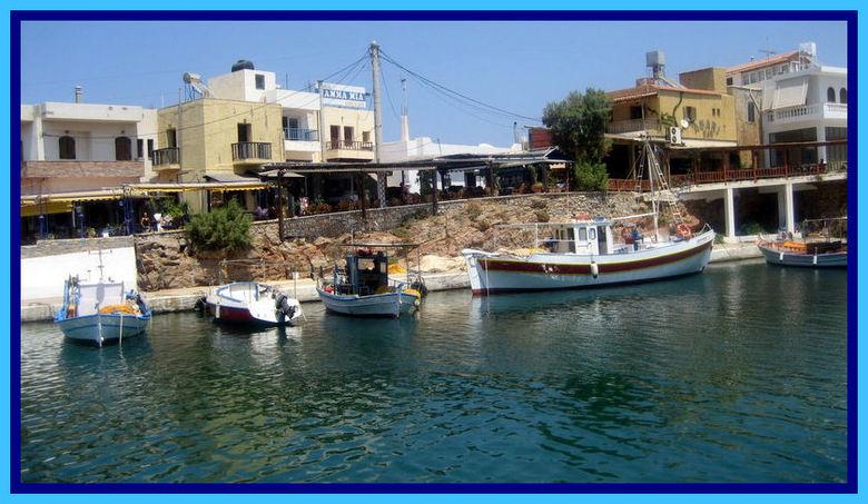 Haventje van Sissi - Vrolijk haventje van Sissi, op Kreta.