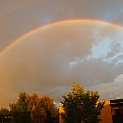 Wakker worden met een regenboog
