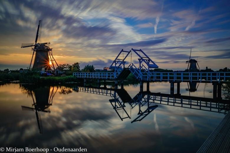 Sunset at Kinderdijk