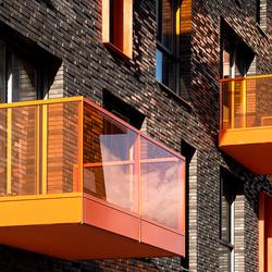 Groningen, Europapark: 'Trias balconaleer'